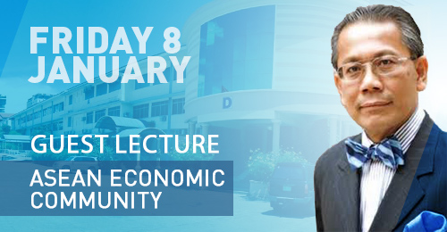 On Friday, January 8th, H.E. Dr. SOK Siphana Guest Lecture ASEAN Economic Community