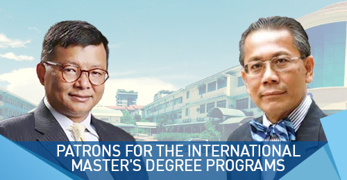 Patrons for the International  Master's Degree programs